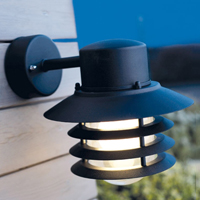 Vejers Black Down Wall Light