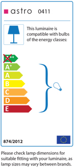 An example of energy efficient labelling for light fittings and bulbs