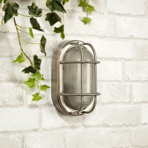 Lyco - Searchlight Brunel Outdoor Oval Flush Light - Stainless Steel