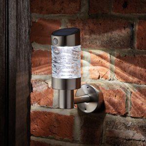 Wave Solar LED Wall Light with PIR Sensor