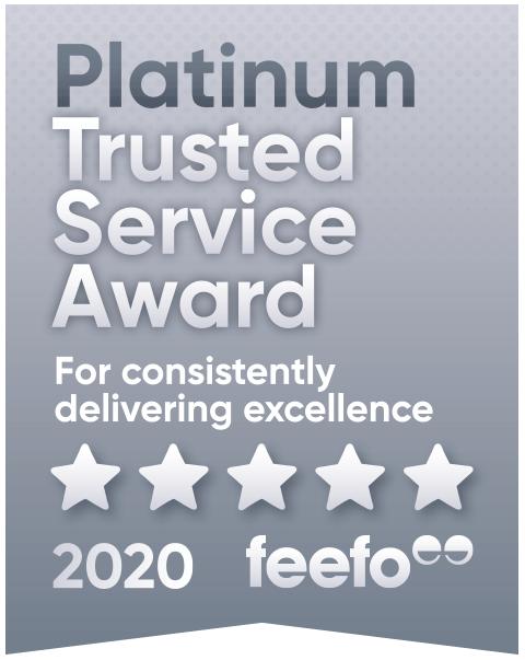 Feefo Platinum Award Customer Service