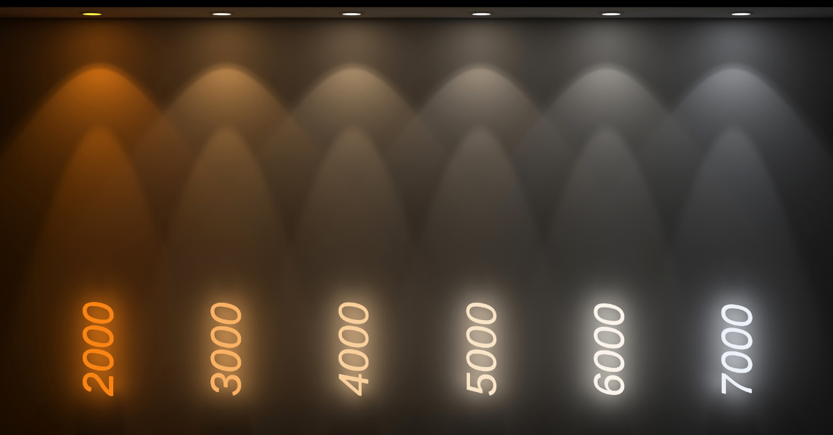 kelvin colour temperature scale infographic