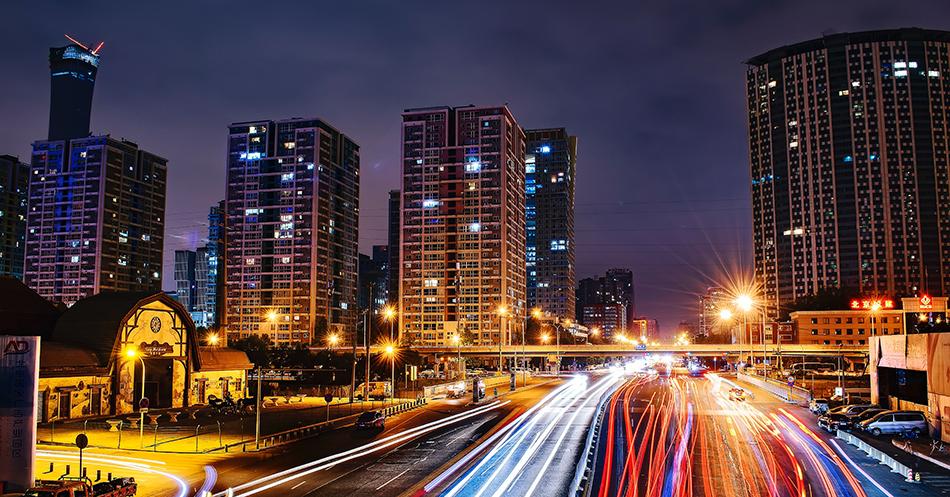 speed of light cityscape