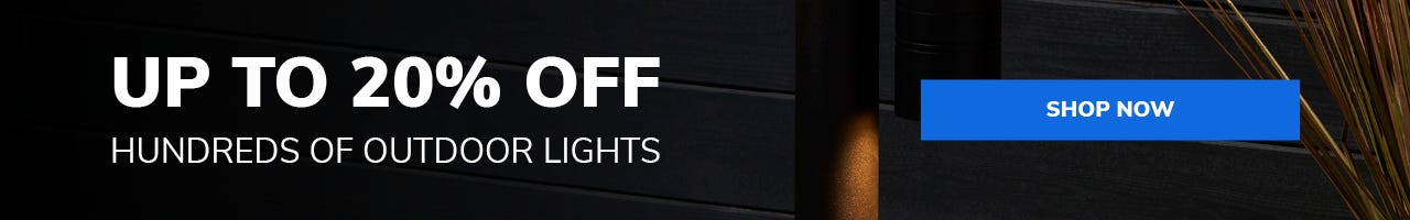 15% off outdoor lighting special offer