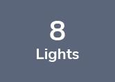 9M Weatherproof Festoon Lighting - 8 Black Bulb Holders