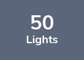52M Weatherproof Festoon Lighting - 50 White Bulb Holders
