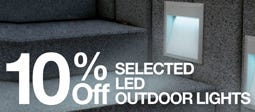 10% Off Selected LED Outdoor Lights