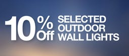 10% Off Selected Outdoor Wall Lights