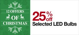 25% Off Selected LED Bulbs