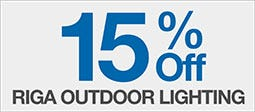 15% Off Riga Outdoor Lighting Range