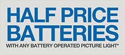 Half Price Batteries With Any Battery Operated Picture Light