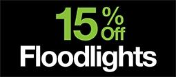 15% Off Floodlights