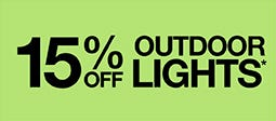 15% Off Outdoor Lights