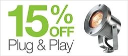15% Off Plug and Play Lighting