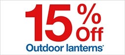 15% Off Outdoor Lanterns