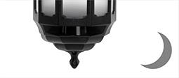 ASD Half Coach Lanterns - Dusk to Dawn Sensor