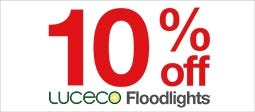 10% Off Luceco Floodlights