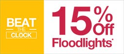 15% Off Selected Floodlights