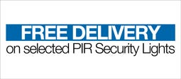 Free Delivery On Selected PIR Security Lights