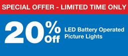 20% Off LED Picture Lights