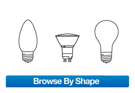 Find Light Bulbs by Shape