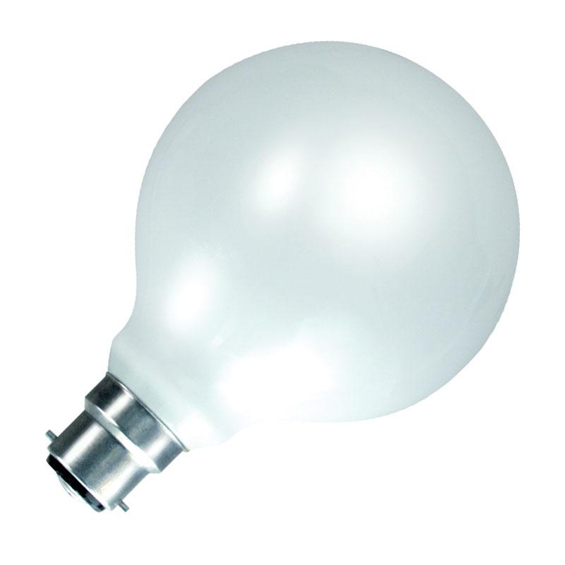 60W Opal Globe Bulb Bayonet