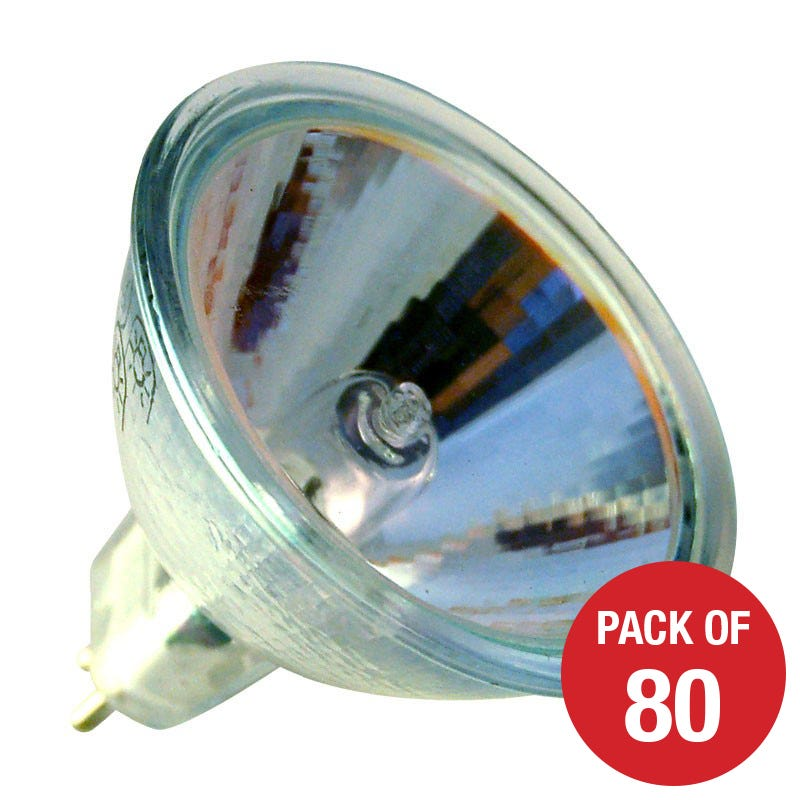 Lyco 50W Dimmable Warm White Low Voltage Halogen MR16 Bulb  Flood Beam  Pack of 80