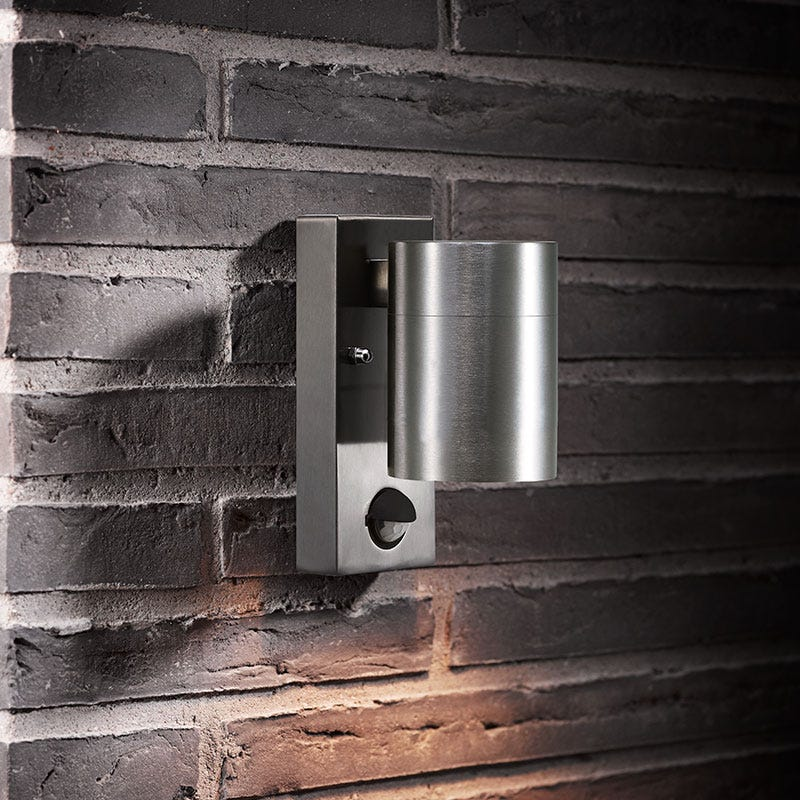 Nordlux Luxembourg Outdoor Wall Light With Pir Sensor Black : nordlux LycoUK - Furniture Online