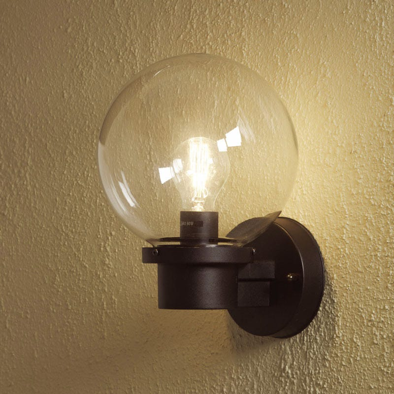 Wall Lights With Sensor : SALE on Konstsmide Nemi Globe Outdoor Wall Light With Dusk To Dawn Sensor - Konstsmide. Now Availab