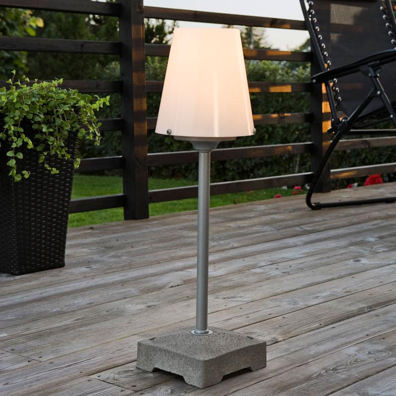 Konstsmide Lucca Short Outdoor Floor Lamp Opal