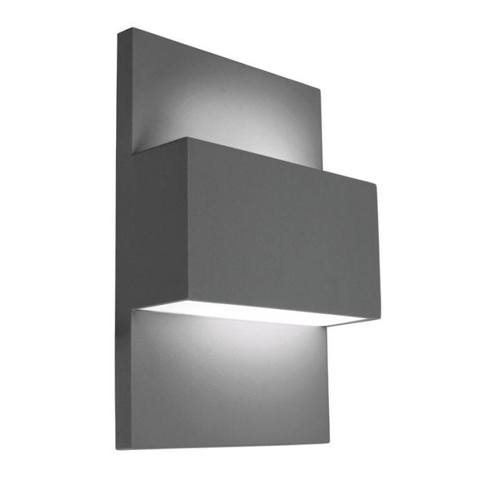Norlys Geneve 40W Twin Outdoor Wall Light Graphite