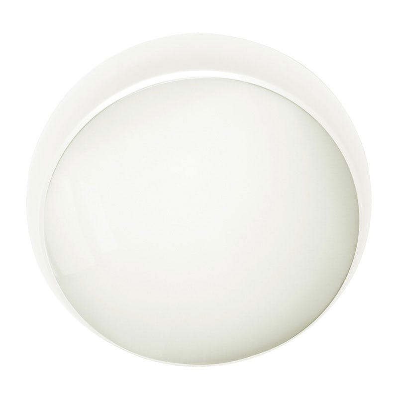 Eterna Carina Warm White LED Flush Light with Microwave Movement Sensor White