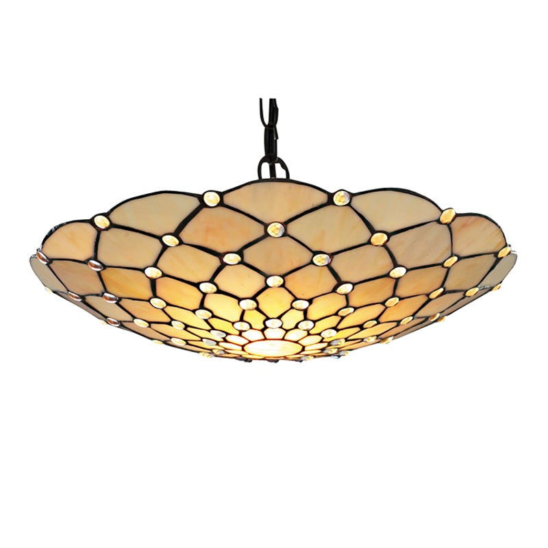 Searchlight Tiffany Style Raindrop Uplighter Ceiling