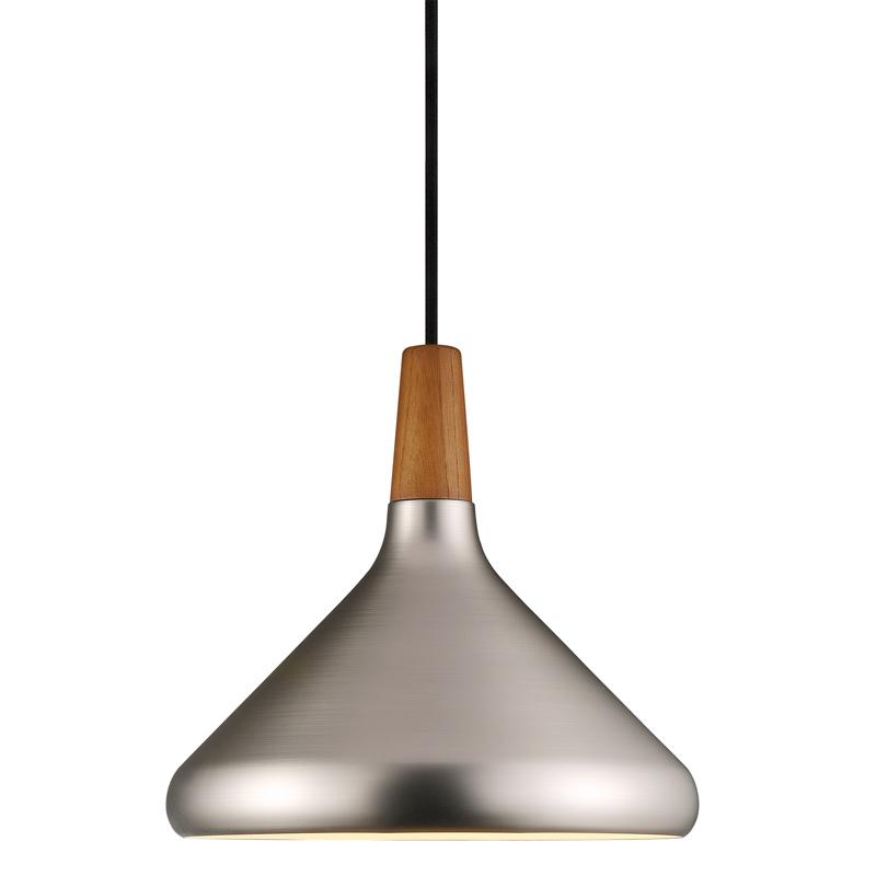 Nordlux Float 27 Ceiling Pendant Light - Brushed Steel