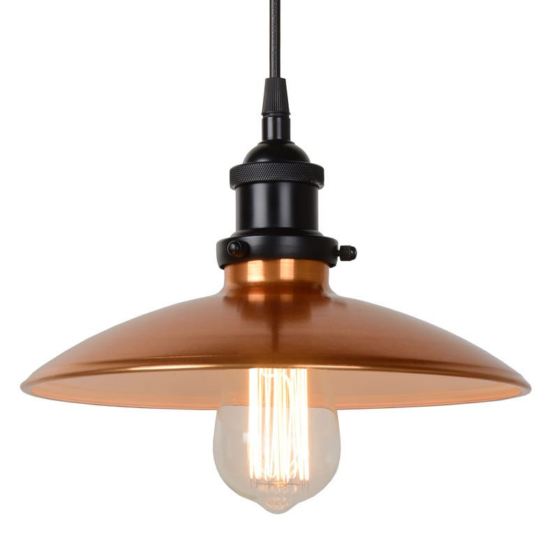 SALE On Lucide Bistro Copper Ceiling Pendant Light
