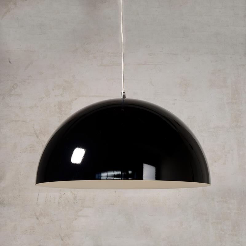 Lucide Riva Bowl Ceiling Pendant Light Black