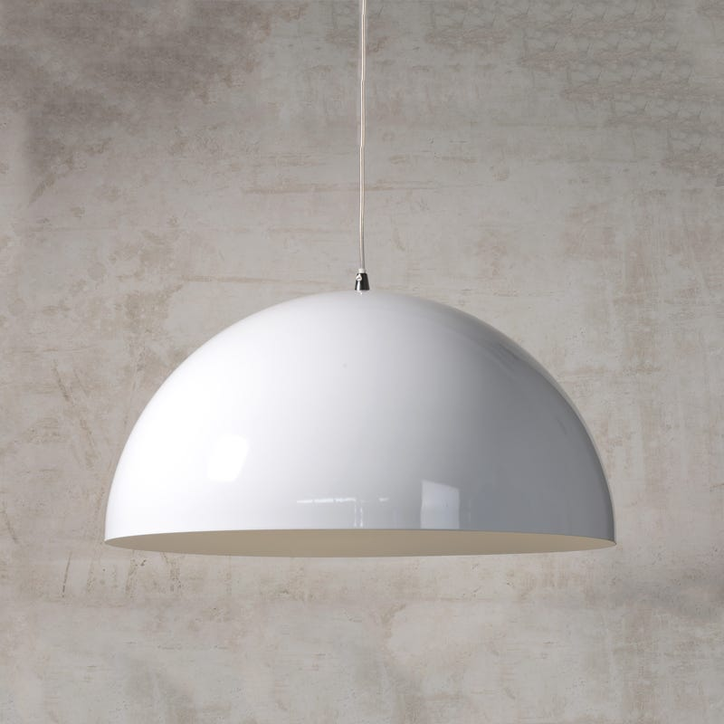 Lucide Riva Bowl Ceiling Pendant Light - White