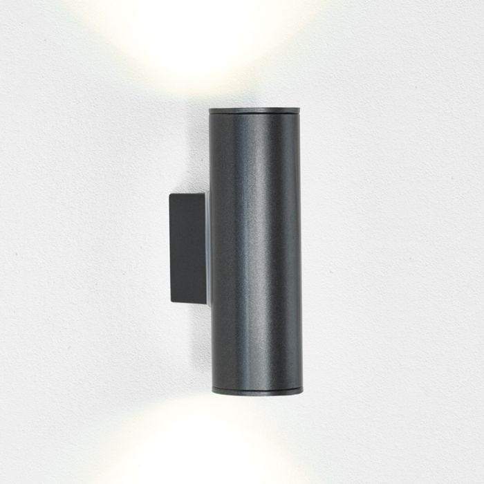 Eglo Riga Twin LED Outdoor Wall Light Anthracite