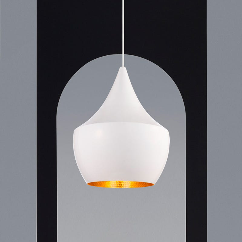 Tom Dixon Beat Fat Ceiling Pendant Light -  Gloss White