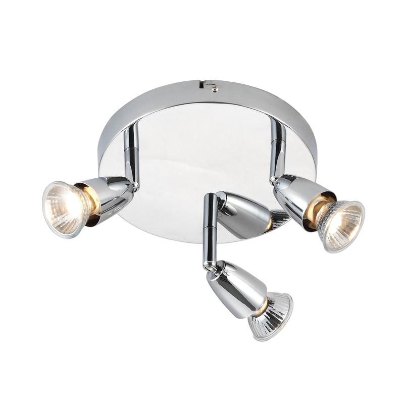Endon Amalfi 3 Light Plate Spotlight - Chrome