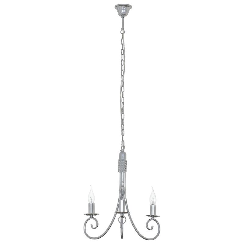 edit metallic 3 light chandelier
