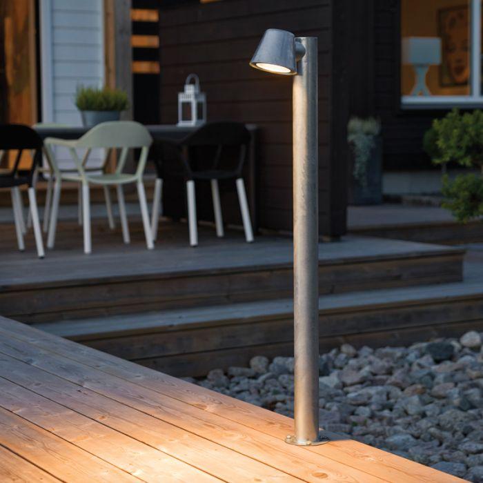 Konstsmide Trieste Outdoor Post Light Galvanised Steel