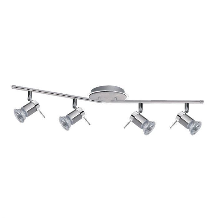 Searchlight Aries 4 Light LED Spotlight Bar - Polished Chrome