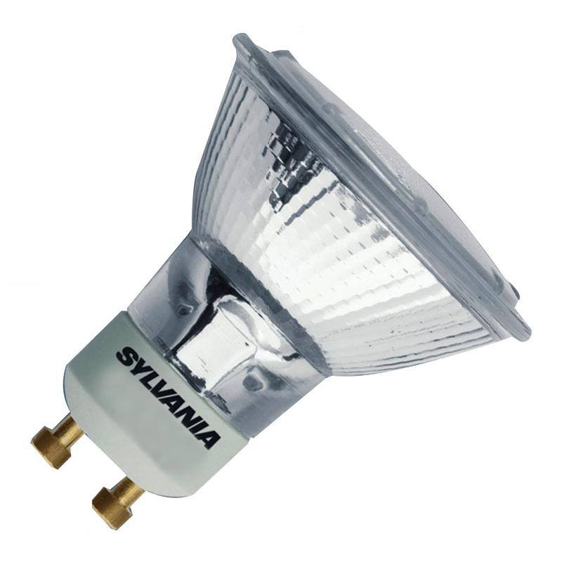 Sylvania 50W Dimmable Warm White Halogen GU10 Bulb  50deg