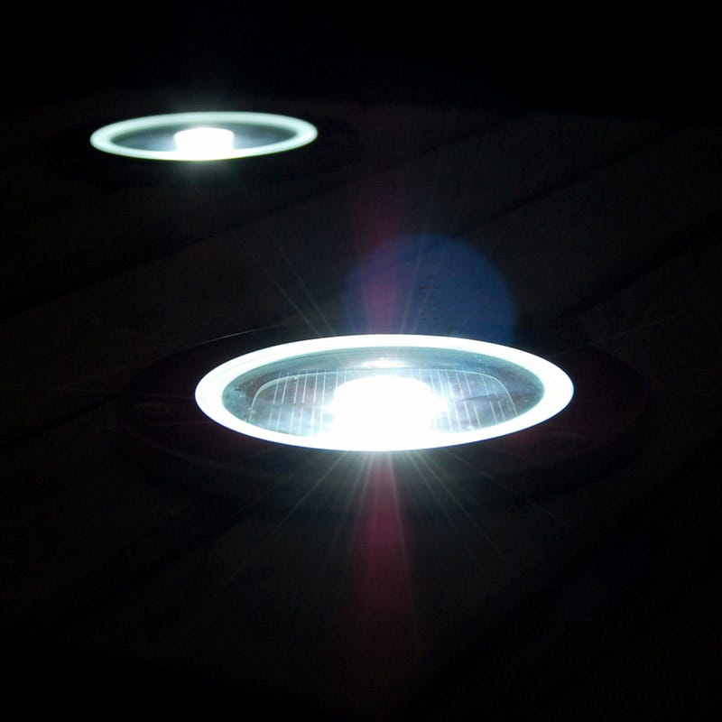 solarcentre solar led deck light with dusk to dawn sensor round. Black Bedroom Furniture Sets. Home Design Ideas