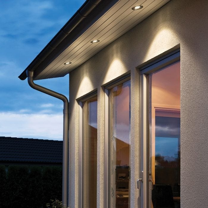 Konstsmide 4W High Powered LED Soffit Recessed Fixed