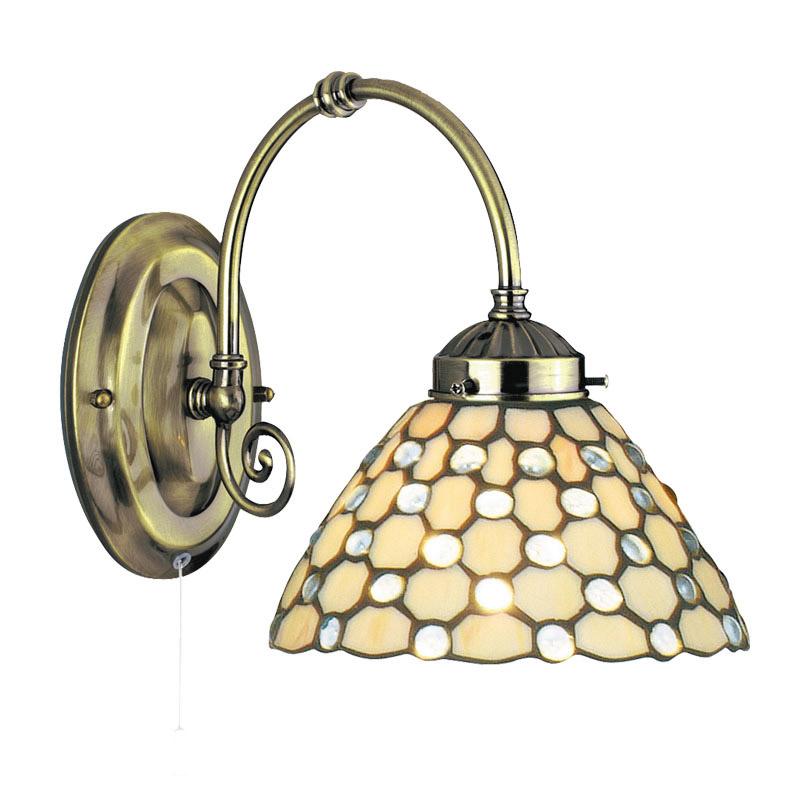 Searchlight Tiffany Style Raindrop Wall Light