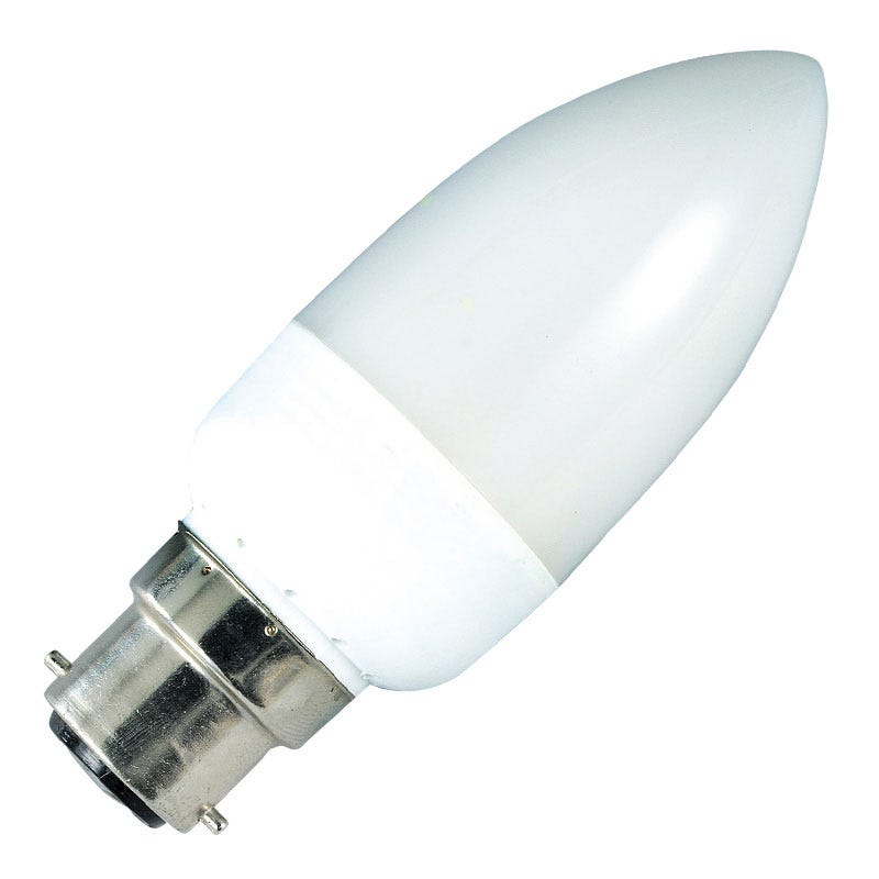 7W Low Energy Candle Bulb Bayonet 8000hrs
