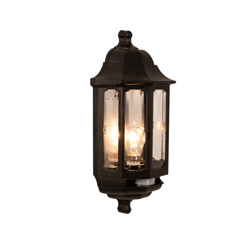 Lantern Wall Light Pir : SALE on ASD Coach Half Lantern Outdoor Wall Light With PIR Sensor - ASD. Now Available our Best Pri