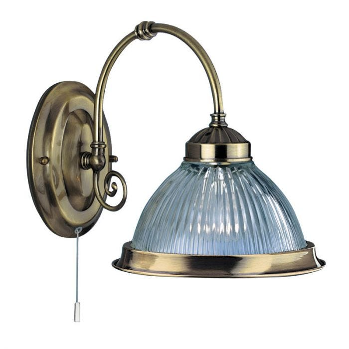 Searchlight American Diner Wall Light Antique Brass